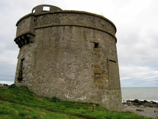 Martello tower on Donabate Beach