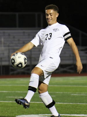Although Plymouth's Bennett Brooks is a tireless worker on the soccer pitch, he also knows how to have fun.