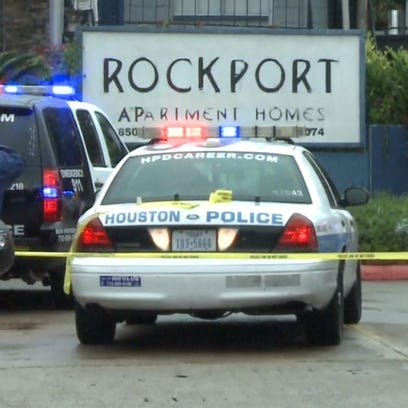 An apartment building partially collapsed at the Rockport