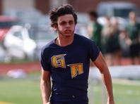 Greencastle-Antrim's Liam Okal broke the school and stadium record in the 400 on Monday with a time of 49.88.