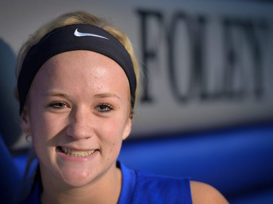 Foley senior volleyball setter Riley Johnson, photographed Monday, Sept. 19, is a standout on the team but has also done missionary work in Mexico, El Salvador and India.