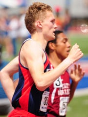 Lebanon's Derin Klick raced to a state medal in the