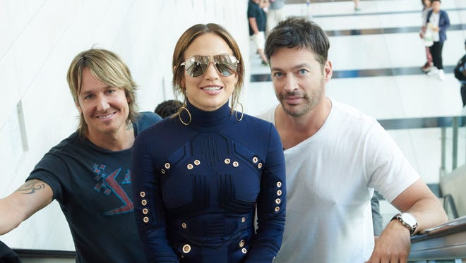 The well-regarded judging panel of Keith Urban, left, Jennifer Lopez and Harry Connick Jr., will assess singers on the final season of Fox's 'American Idol.'