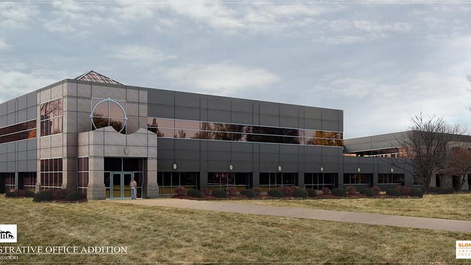 A rendering provided by Prime Inc. of what a completed office expansion at the trucking company's Springfield headquarters will look like when completed.