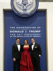 (from left to right) Michael Wedo, Carrie Wedo and Anthony Wedo pictured at the Freedom Ball in Washington D.C. Friday night.