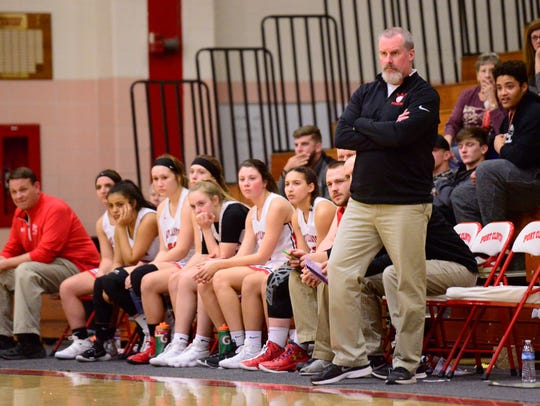Port Clinton's Toby Bickel watches his team Tuesday in a win over Rossford.
