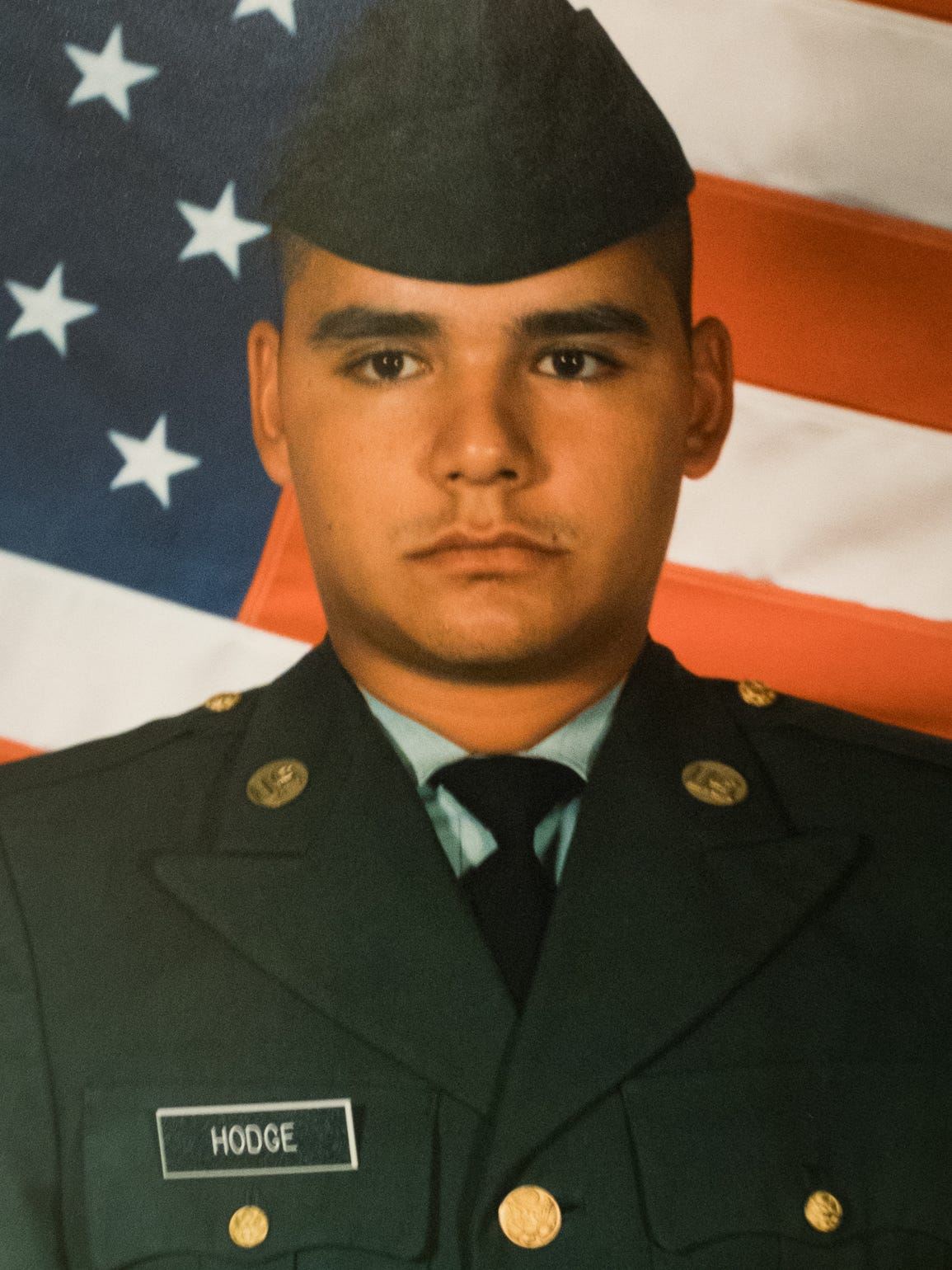 Eddie Hodge enlisted in the Army in 2002.