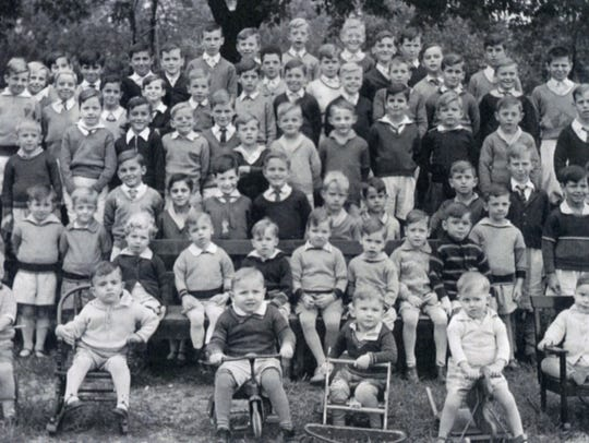 Orphans at the Carmelite Home for Boys in the 1930s.