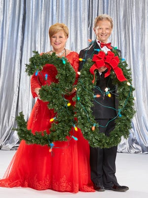 Sandi Patty and Indianapolis Symphony Orchestra principal pops conductor Jack Everly promote Yuletide's 30th anniversary.