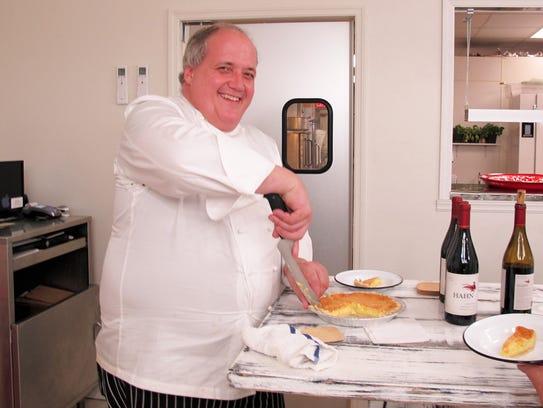 """Chef Bryan """"Bubba"""" Sutton slices a chess pie Dec. 22"""