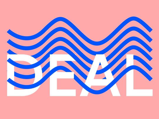 A detail from a poster that Toffolo designed for the Deal surf report on June 10th.