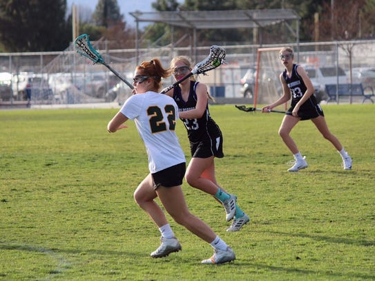 Senior midfielder Holly Hall, a Butler commit, leads