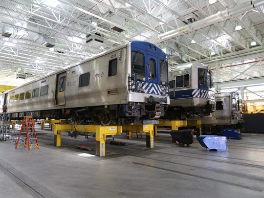 The coach shop  that opened in 2010 is pictured at the Metro-North Maintenance Facility at the Croton-Harmon Yard.