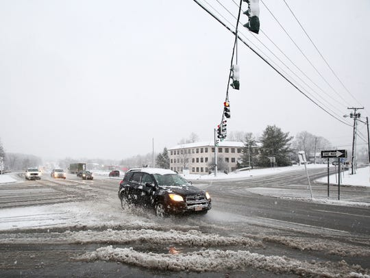 Traffic at Route 9 and Myers Corners Road in Wappingers
