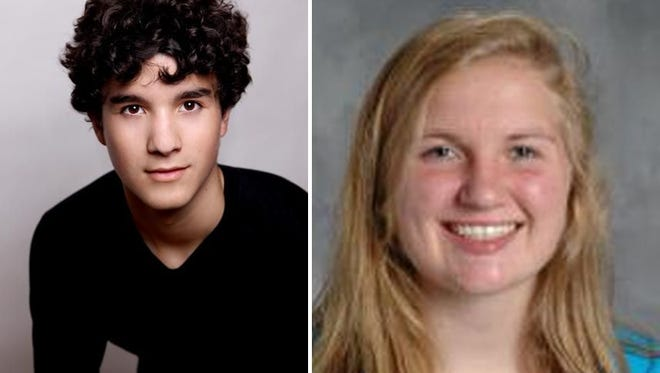Scholars of the Week Colin LeMoine and Leslie Giesler of Green Bay Preble Hihh School.