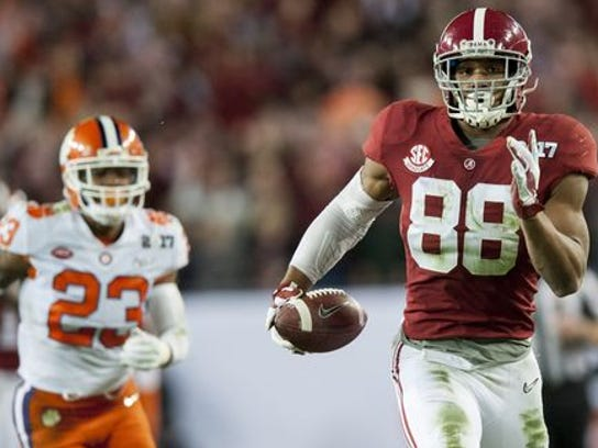 O.J. Howard caught 45 passes for 595 yards and three