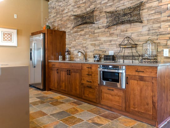 A kitchen designed by Antigua Woodworks.