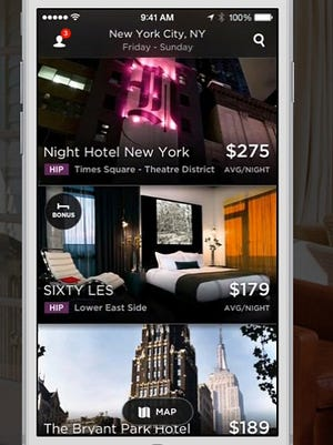 The HotelTonight app helps you find last minute bargains on hotels.