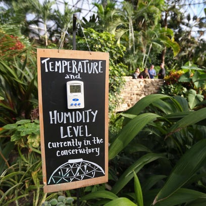 The temperature inside the Greater Des Moines Botanical