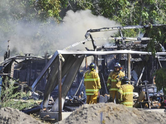 Firefighters responded to a mobile home fire just after 9 a.m. on Sunday in the 1700 block of East Pacific Avenue in Tulare.
