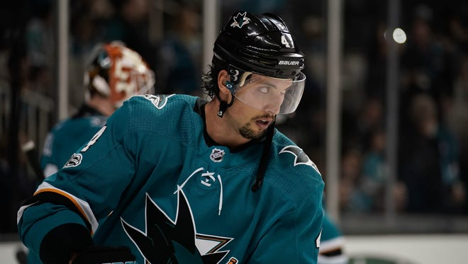San Jose Sharks defenseman Brenden Dillon was suspended one game for slashing.