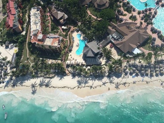 My resort as seen from my helicopter ride.