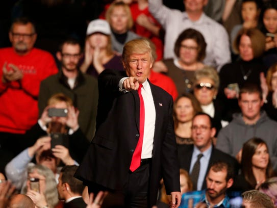 President-elect Donald Trump spoke to thousands of