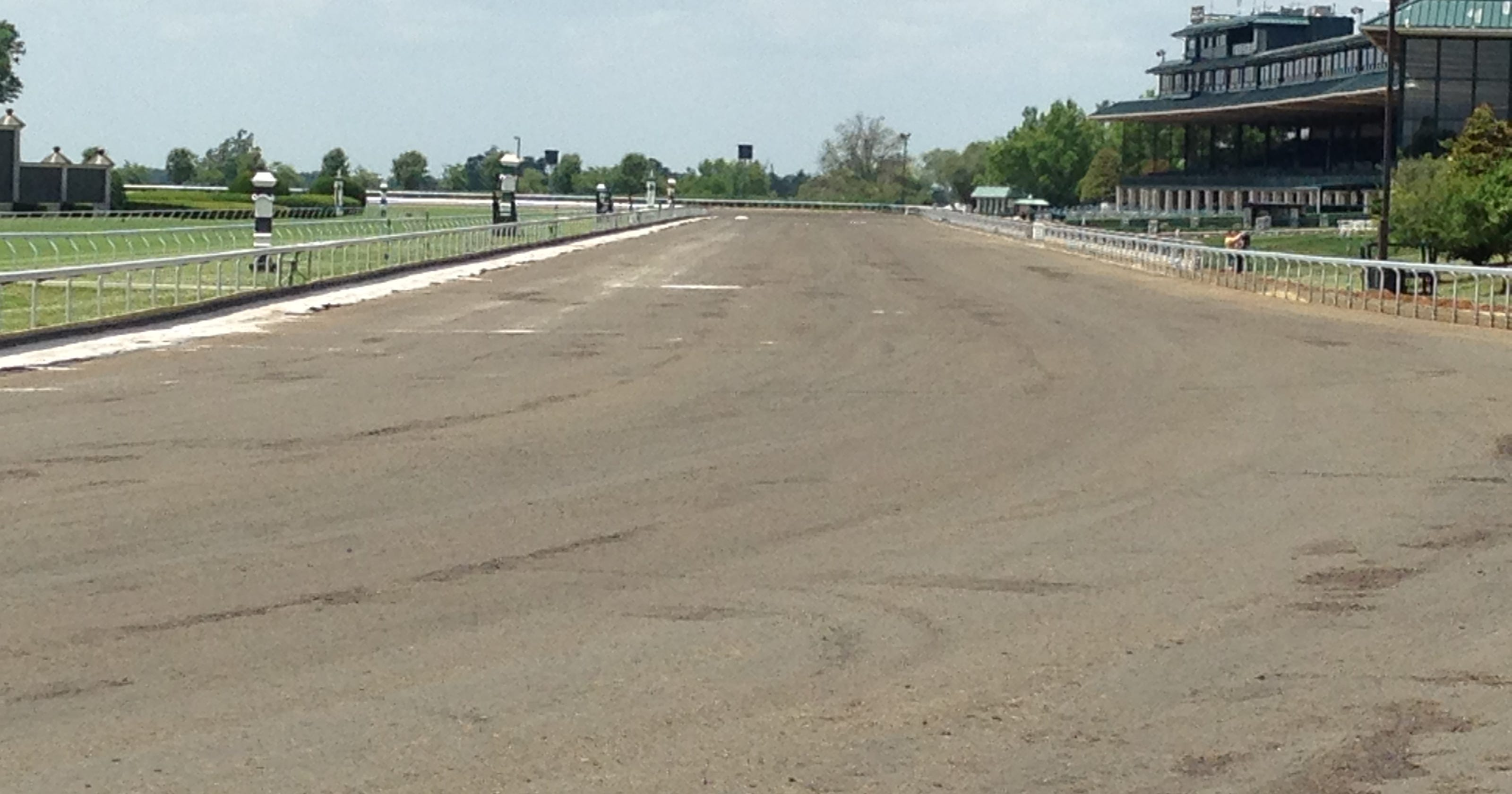 Before Breeders Cup Keeneland Track Renovation Ongoing