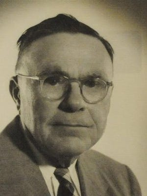 """This undated photo provided by the Monroe County Heritage Museum in Monroeville, Ala., shows A.C. Lee, father of novelist Harper Lee and the model for fictional attorney Atticus Finch in Lee's books """"To Kill a Mockingbird"""" and """"Go Set a Watchman."""" Editorials written by Lee in The Monroe Journal in the 1930s and 1940s show Lee was a mix of the noble attorney of """"Mockingbird"""" and racial segregationist of """"Watchman."""" (Monroe County Heritage Museum via AP)"""