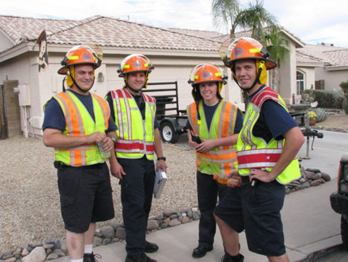 Mesa Fire volunteers