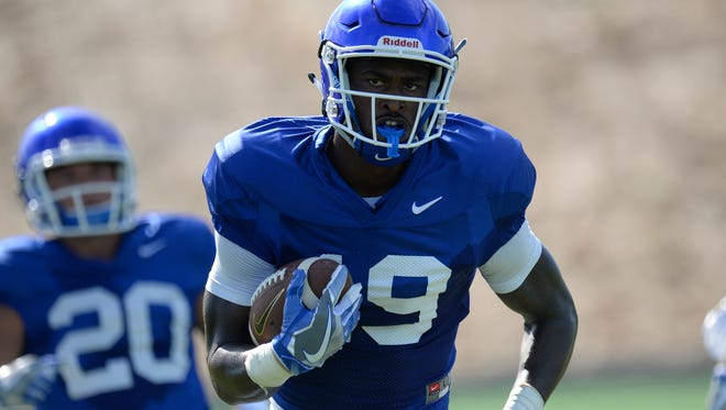 WR Kayaune Ross during a UK football practice in Lexington, KY on Monday, August 22, 2016.