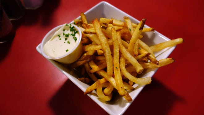 French fries with aioli at Welcome Diner