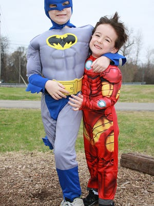 Participants in the Super Hero 5k are encouraged to dress up as their favorite superheroes, like Taylor (9) and Finlay (5) Abernathy, who ran in the Hero Hustle 5K in Gallatin back in November of 2017.