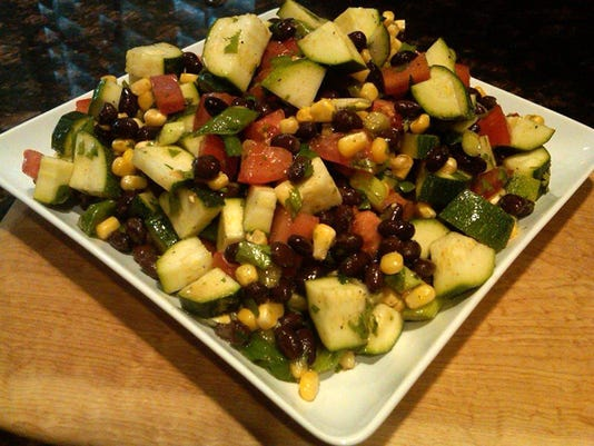 Santa Fe Salad with Black Beans, Corn and Cilantro