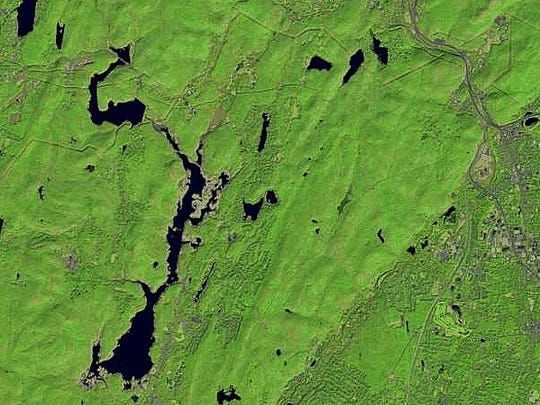 By October 2016, severe drought and warmer than typical temperatures depleted the Wanaque Reservoir, revealing significant surface area normally covered by water.