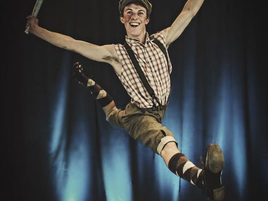"Phoenix Theatre's ""Newsies,"" featuring Cole Newburg,"