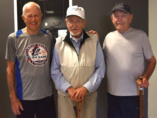 Left to right: Peter Miazza, Mickey Nowell and David