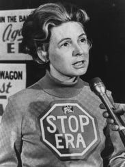 Phyllis Schlafly spearheads a nationwide campaign to