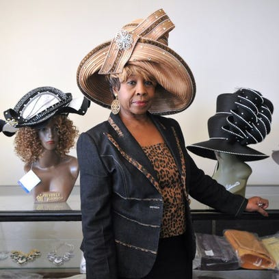 photos by Nellie Doneva/Reporter-News Dorothy Brooks is the owner of B&B Hats & Accessories, which offers a large selection of church hats, as well as fascinators and confections.