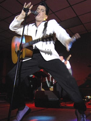 In this file photo, Chris Solano, an Elvis Tribute performer, sings a song to the crowd during the 5th Annual Elvis Birthday Bash at Dale's Weston Lanes.