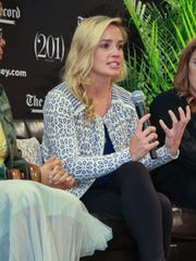 Dani Rylan, seen here at a summit in New Jersey last year, is founder and commissioner of the National Women's Hockey League.