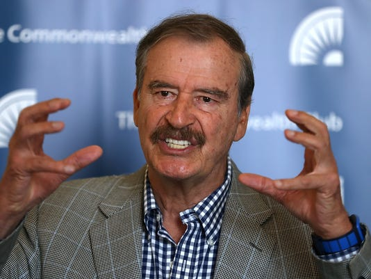 Former Mexican President Vicente Fox Speaks At Commonwealth Club In San Francisco