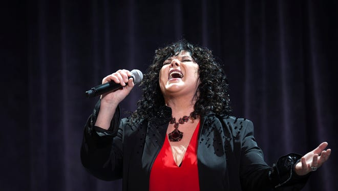 "Ann Wilson of Heart  performs during the AIDS Foundation's 12th Annual ""An Enduring Vision"" benefit gala at Cipriani Wall Street on Tuesday, Oct. 15, 2013 in New York."