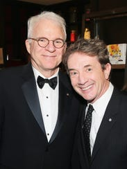 Steve Martin (left) and Martin Short attend a party