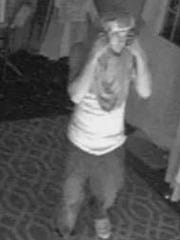 A second image of the suspect in the June 23 break-in