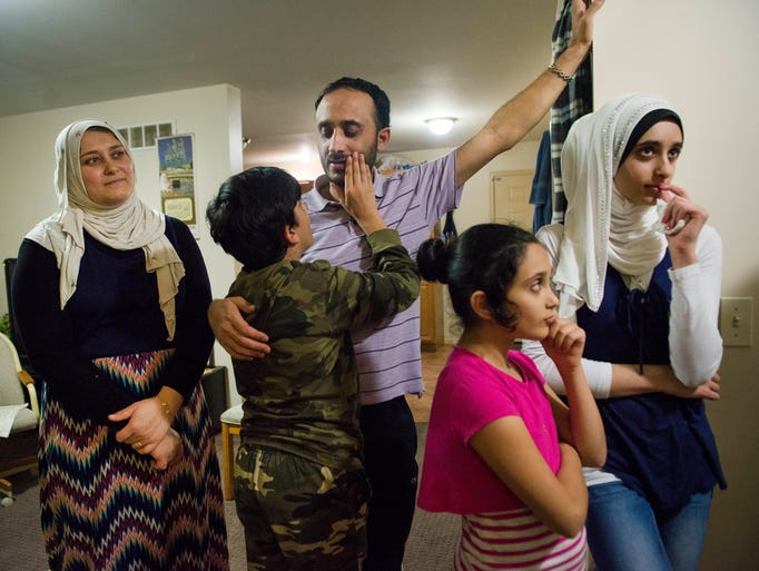 The Al Zoubi family are the first Syrian refugees to