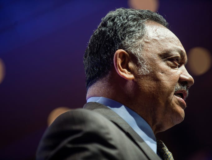 The Rev. Jesse Jackson gives his keynote speech in