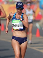 Miranda Melville of Rush competes during the women's