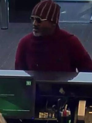 Police say this man robbed a TD Bank branch in Delran on Sunday.