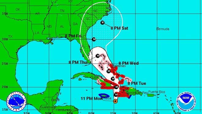 Hurricane Matthew 11 p.m. Monday update